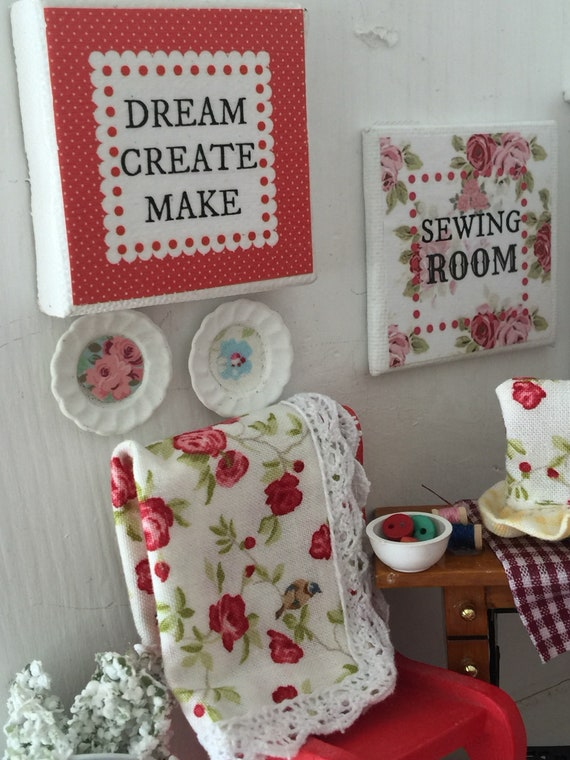 "Craft Room Art Dream Create Make 2"" x 2"" Canvas"
