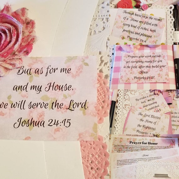 Home Scripture Collection Bible Journaling digital clipart