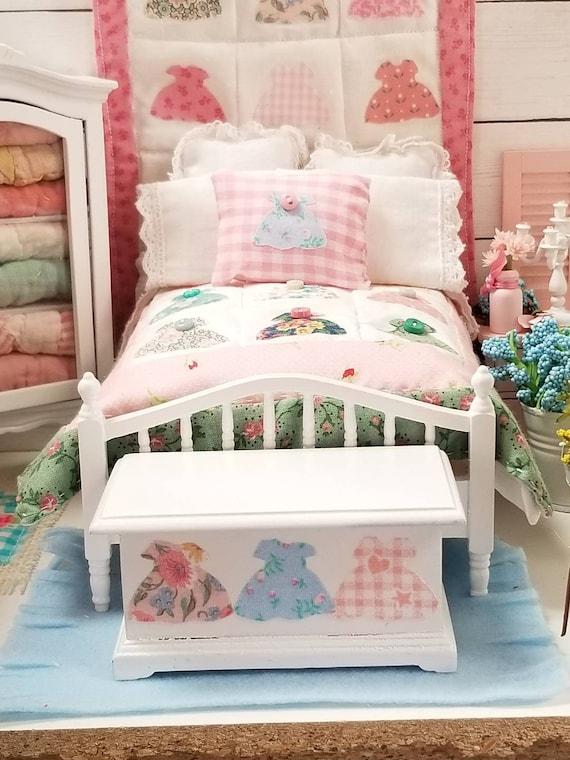 Miniature PRETTY Little Dress Embellished Blanket Chest