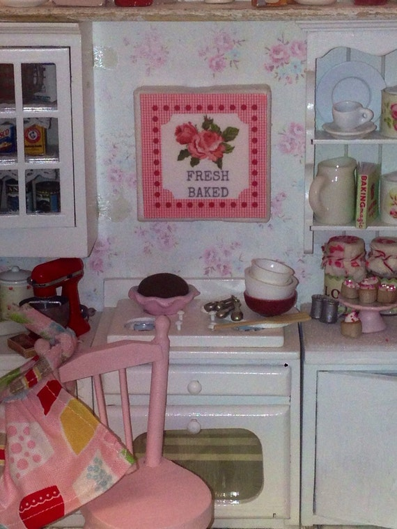 Dollhouse Miniature Cottage Fresh Baked Sign