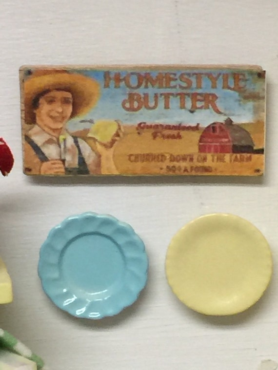 Homestyle Butter miniature Sign-1:12 scale