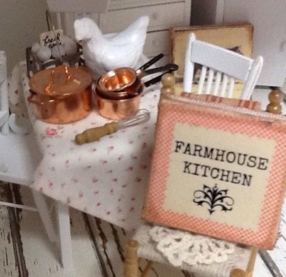 Dollhouse Miniature Kitchen Sign-Farmhouse Kitchen