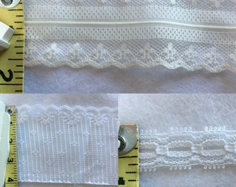Vintage and New Lace Trim 1A- 3 yard total
