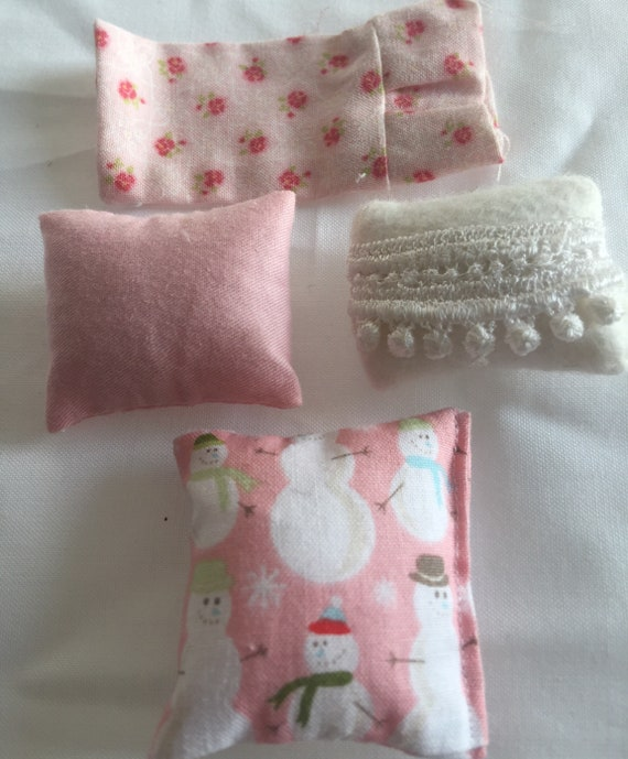 Miniature 4 Pink Pillow and Pillowcase Destash-