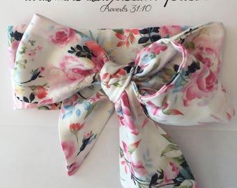 Shabby Roses Baby Headwrap