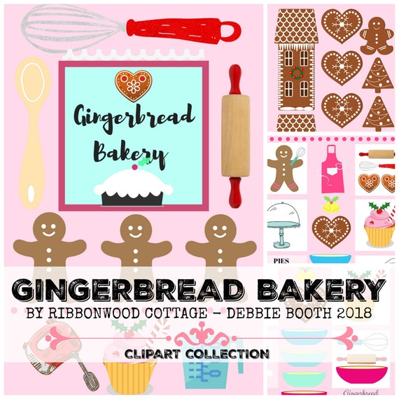 Gingerbread Bakery Clipart Collection - Immediate Download