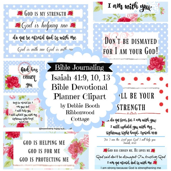Isaiah 41 - Don't Panic and Don't Be Afraid Bible Journal Devotional Collection