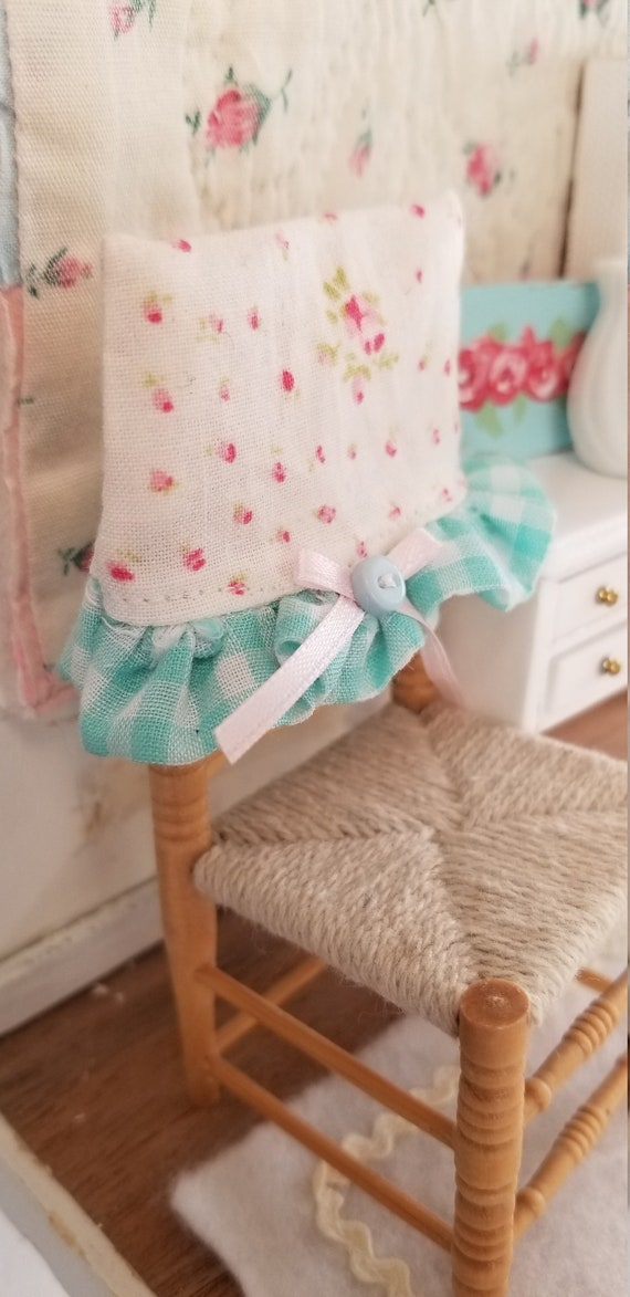 Cottage style Chair Cover and Dollhouse Chair