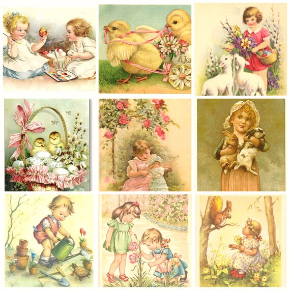 Easter and Spring Digital Clipart Download