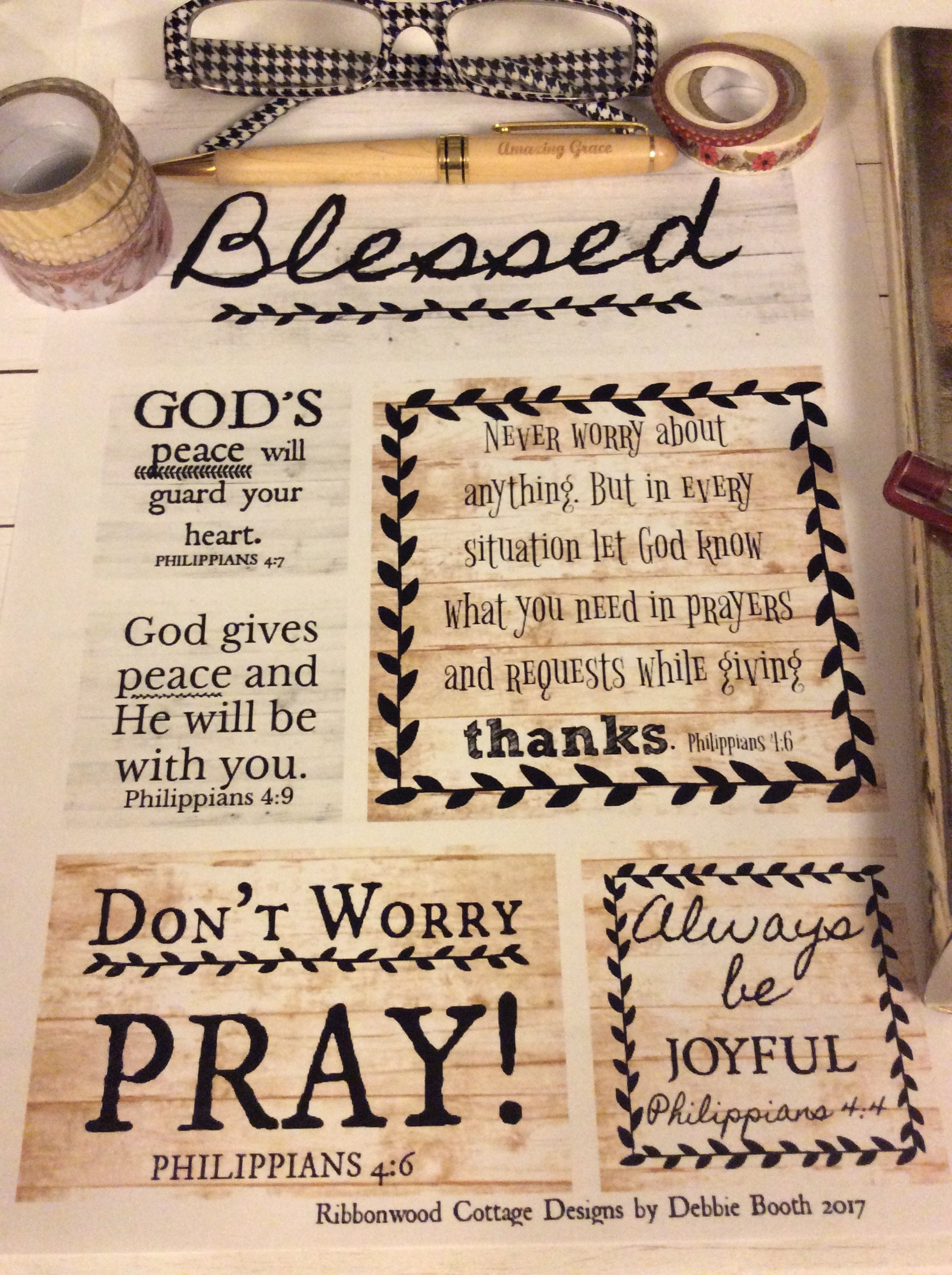 BIBLE JOURNALING Printable Bible Scripture Verse Art Journal Cards Gods Peace Will Guard Your Heart Philippians 4