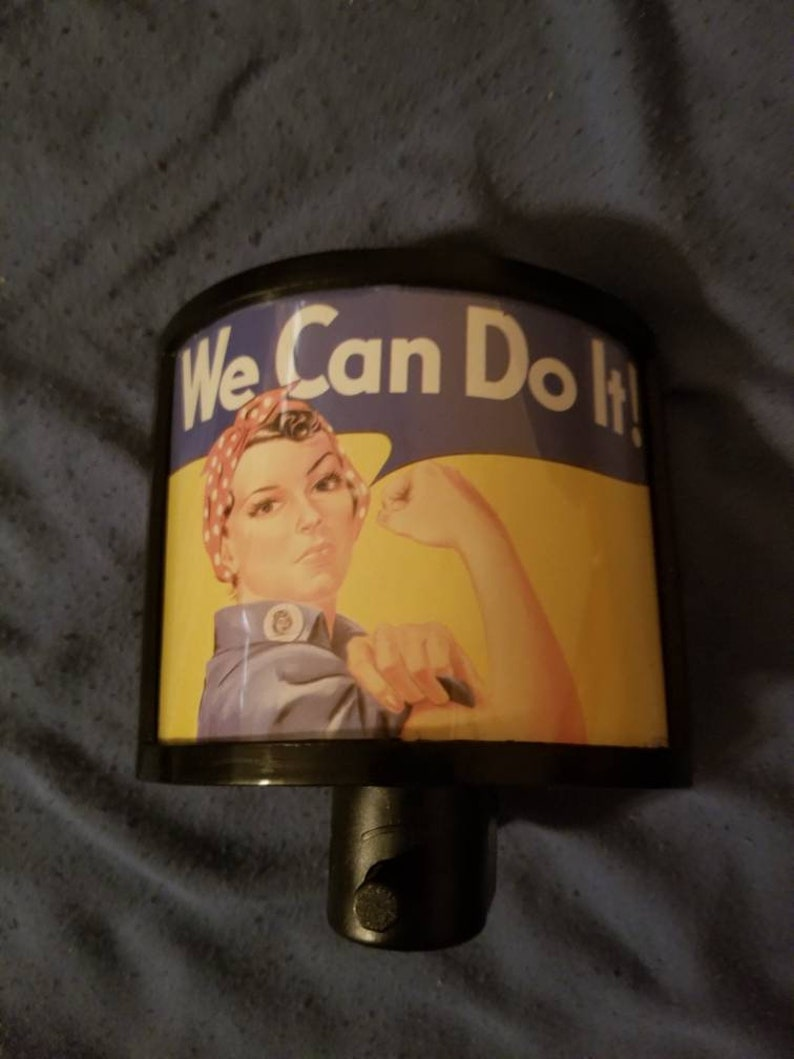 Rosie The Riveter night light Womens WWII We Can Do It Propaganda gift