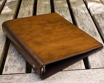 Classic Brown Leather 6 Ring Binder, A5 Organizer (Filofax Compatible)
