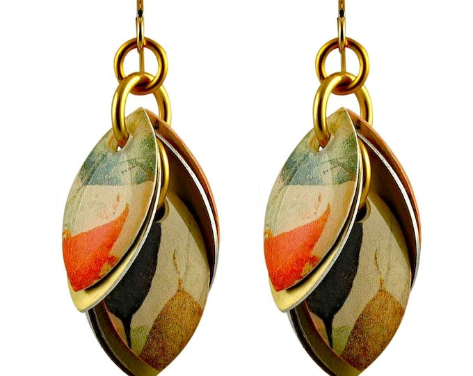 Autumn Leaves Dangle Earrings - Available in 3 Lengths