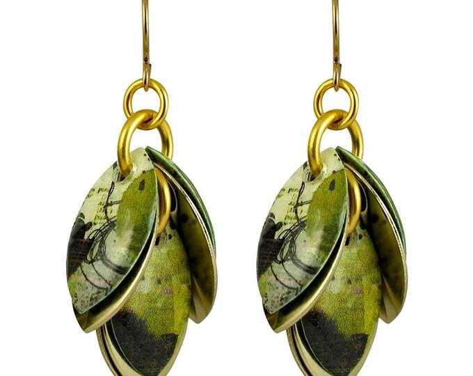 Jalousele Mixed Media Dangle Earrings - Available in 3 Lengths - as seen on @SimpsonHouse on Instagram
