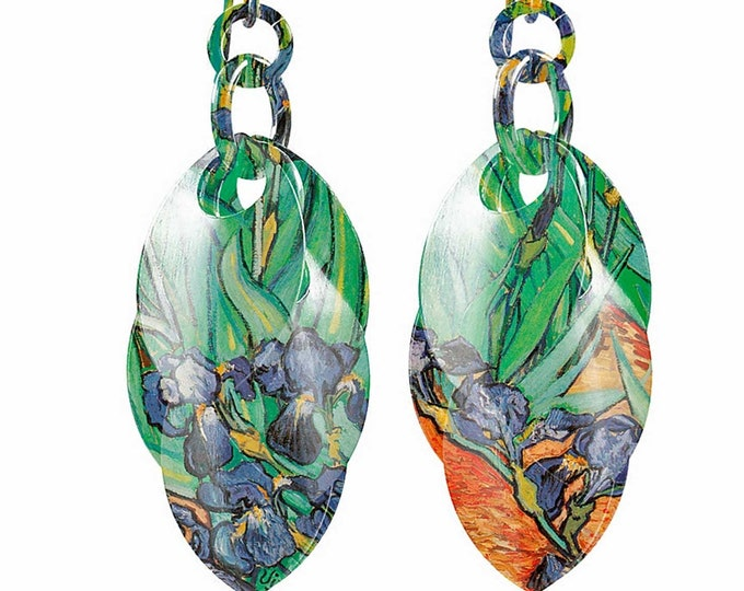 Irises Dangle Earrings