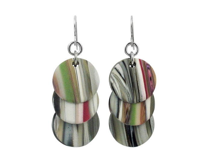 Stripes #2 - Circle Earrings