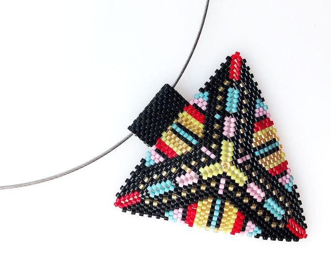 Mid Century Modern Triangle Pendant