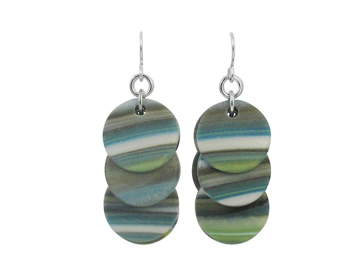 Stripes #9 - Circle Earrings