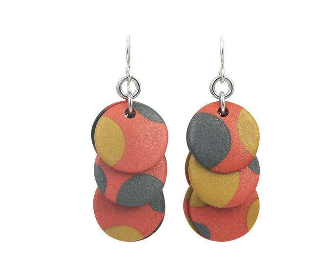 Retro Dots #2 - Circle Earrings