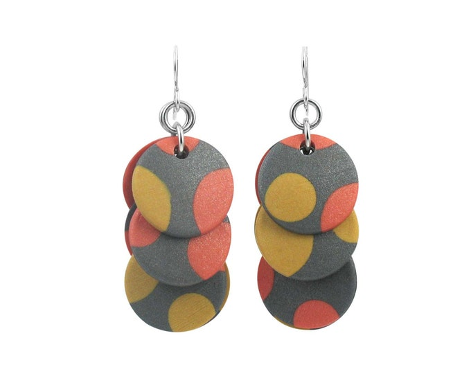 Retro Dots #1 - Circle Earrings