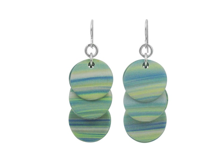 Stripes #8 - Circle Earrings