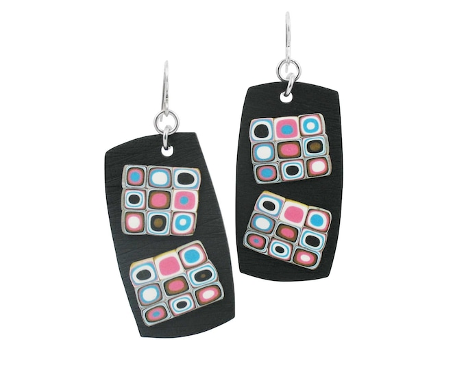 Retro #4 - Rectangle Earrings