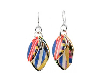 Broad Stripes Petals to the Metal Cluster Earrings