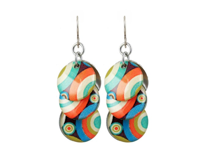 Mod Circle Earrings