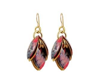 Fall Splash Petals to the Metal Cluster Earrings