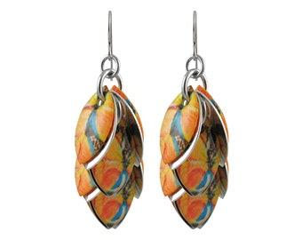 Orange You Lovely Dangle Earrings