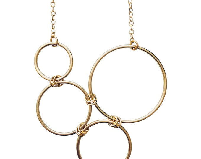 Sea Circles Necklace - Gold or Silver  One each Available