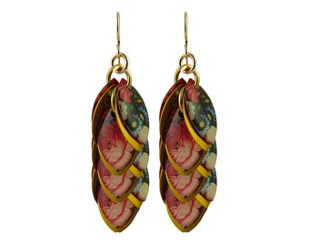 Enchanted Garden Dangle Earrings - Available in 3 Lengths - As Seen on Elegantly Dressed and Stylish