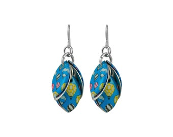 Up Up in the Air Hot Air Balloon Petals to the Metal Earrings