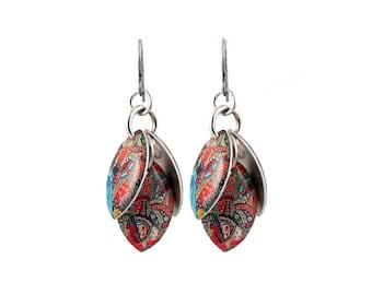 Alice in Wonderland Petals to the Metal Cluster Earrings