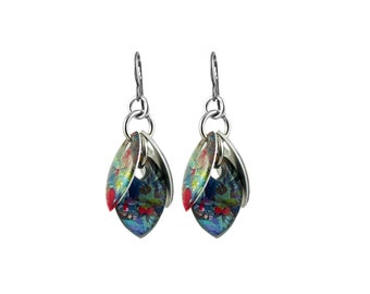 Tropical Paradise Petals to the Metal Cluster Earrings