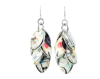 Kandinsky Composition No 8 Petals to the Metal Cluster Earrings