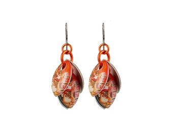 Orange Blossom Petals to the Metal Cluster Earrings