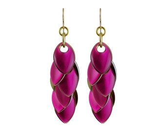 Brilliant Amethyst Iced Petals Dangle Earrings