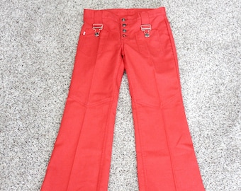 1960s Big E Levi's For Gals Front Buckle Pocket Pants, Flare, Button Fly, Small Size
