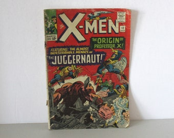 The X-Men Comic Book, Marvel #12 July 1965, Origin of Professor X, Juggernaut
