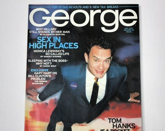 Vintage George April 1998 Magazine, Politics, Tom Hanks, Monica Lewinsky,Hillary Clinton
