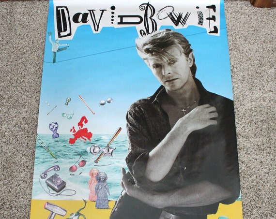 Vintage 1987 David Bowie The Glass Spider Tour Poster  | UK Promo 80s Rock