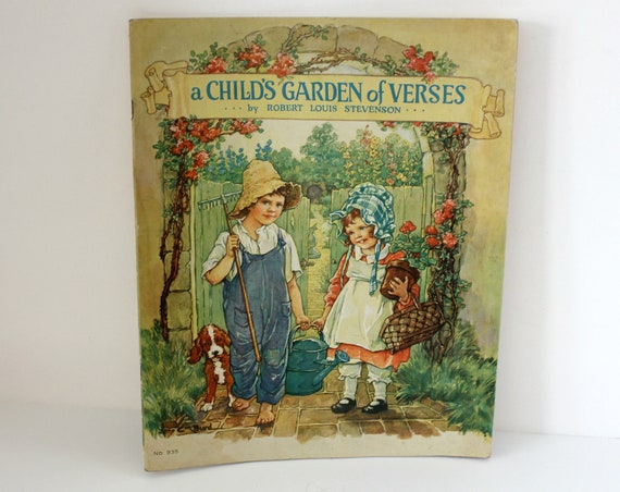 A Child's Garden of Verses by Robert Louis Stevenson Poems 1939 Full Color Illustrations