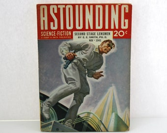 Vintage Astounding Science Fiction Pulp Magazine, Nov. 1941 Issue