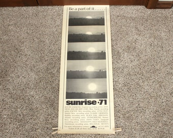 Rare WA State Sunrise 71 1971 Music Festival Poster Cancelled Shut Down Grant County