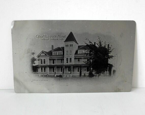 Aluminum Postcard, Vintage IOOF Odd Fellows Home, Walla Walla, WA,