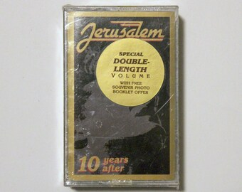 Jerusalem Vol 1 and 2 Sealed Cassette Tapes with Hype Sticker Heavy Metal Xion Christian 10 Years After The Early Years The Latter Years