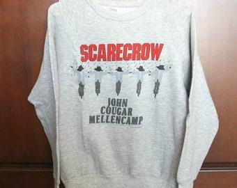 John Cougar Mellencamp Scarecrow Sweatshirt, Original 1985