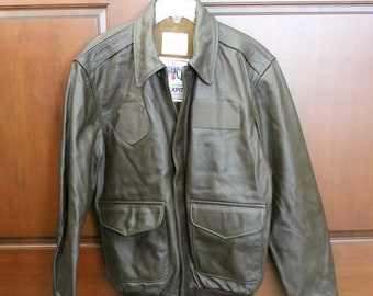 Vintage Cockpit DSCP A-2 AF Leather Flyer's Flight Jacket, Air Force, Military