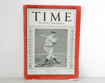 1936 Time Magazine Joe Di Maggio Cover, Yankees Baseball, Sports